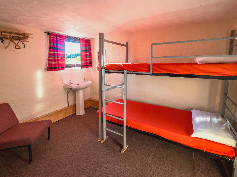 Gogarth Dorms seperate room with bunk bed