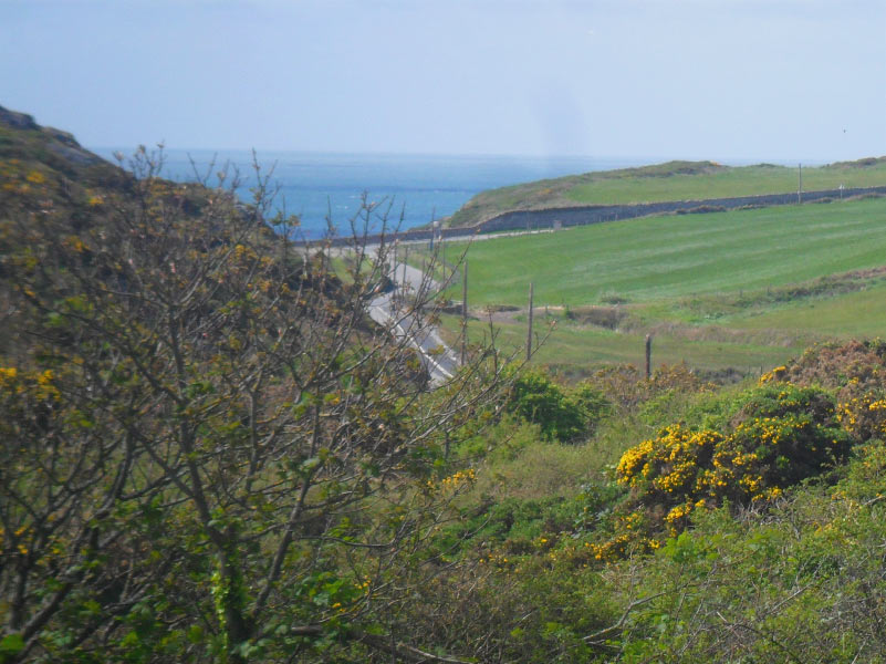 View of Porth Dafarch from the hills above at Anglesey Outdoors