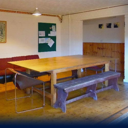 Gogarth Dorms common area and dinning table